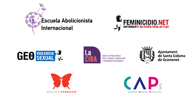 Logos de organizadores del seminario internacional online por la abolición de la prostitución